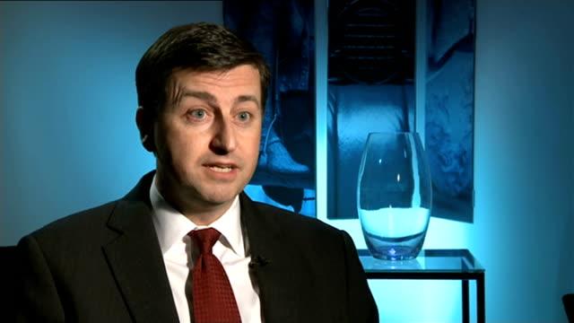 general election tv debates: david cameron agrees to multi-party debate; westminster: douglas alexander mp interview sot - david cameron has now... - douglas alexander stock videos & royalty-free footage