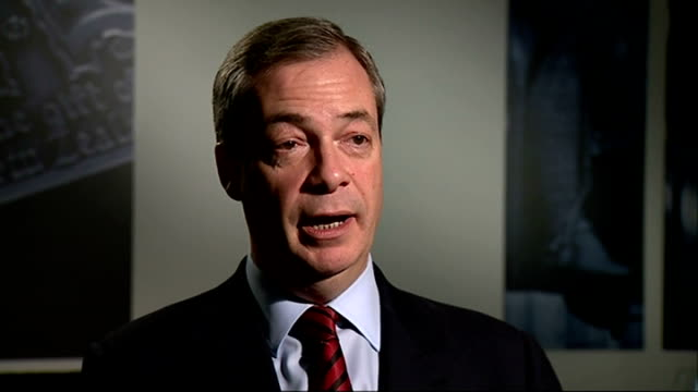 green party will now be included england london int nigel farage mep interview sot what is the point of having th efour major parties as defined by... - tom green stock-videos und b-roll-filmmaterial