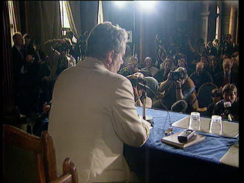 Martin Bell stands ITN ENGLAND London Martin Bell along amp into building Bell along to table for pkf Press at pkf Martin Bell pkf there is a certain...