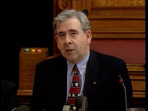 plaid cymru plaid cymru pkf dafydd wigley pkf tories govern by diktat / labour treat wales like second class nation i/c - schottenkaro stock-videos und b-roll-filmmaterial