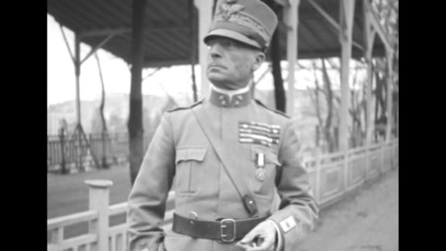 general ernesto mombelli in uniform with chest of ribbons and the distinguished service medal / ribbons and medal / his head and hat / note: exact... - turkey middle east stock videos & royalty-free footage