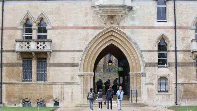 general exterior views of christ church college, oxford university, oxford, uk. - carving craft product stock videos & royalty-free footage