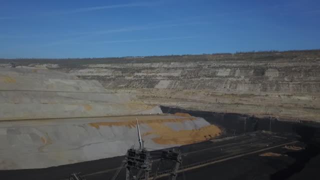 general footage of lignite mine hambach tagebau in hambach north rhine westphalia germany on friday october 5 2018 - open cast mine stock videos & royalty-free footage