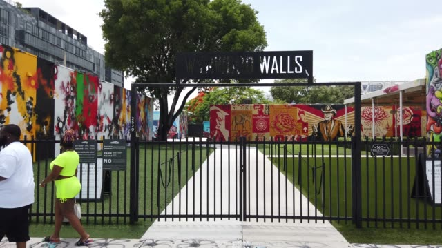 general footage of the wynwood neighborhood on july 09 2020 in miami florida today is the first day that restaurants have been asked by miamidade... - miami dade county stock videos & royalty-free footage