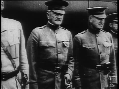 general john pershing standing with other generals outdoors - john pershing stock videos & royalty-free footage