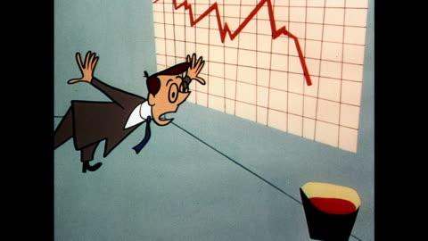 vídeos y material grabado en eventos de stock de general manager sees sales decline in his business - rebajas