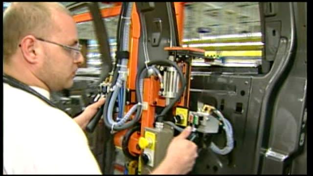 General Motors announces cuts in car production Location Unknown Ford motors car production line