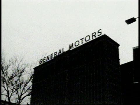 General Motors Building and Sign in Detroit Michigan