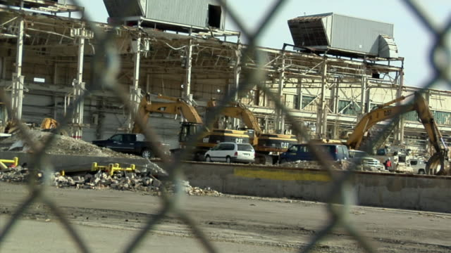 ws pan general motors plant under demolition in lansing, michigan, usa - lansing stock videos and b-roll footage