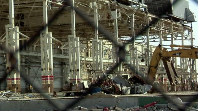 ws general motors plant under demolition in lansing, michigan, usa - lansing stock videos and b-roll footage