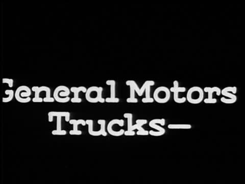 """b/w 1928 slate: """"general motors trucks-"""" / industrial - 1928 stock videos & royalty-free footage"""