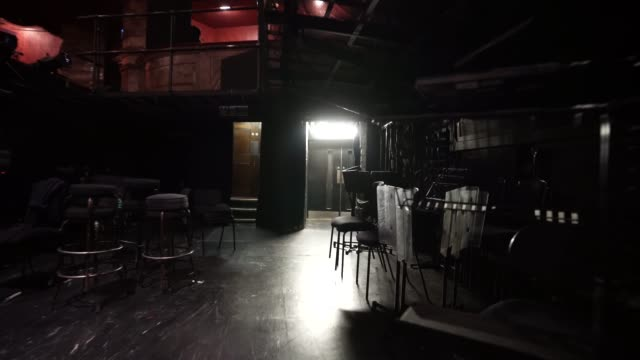 general of the orchestra pit at the london coliseum on june 11, 2020 in london, england. the london coliseum, the largest theatre in london's west... - ウェストエンド点の映像素材/bロール