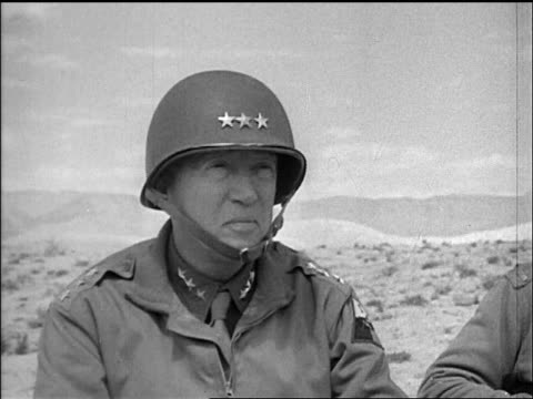general patton looking thru binoculars in tunisia / documentary - only mature men stock videos & royalty-free footage