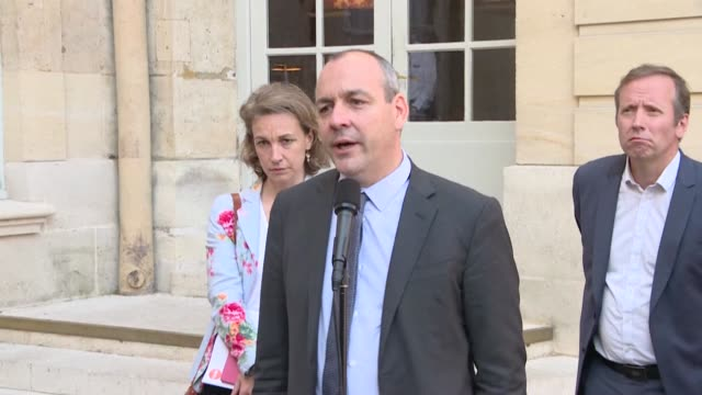 general secretary laurent berger puts any immediate resumption of discussions on pension reform on the back burner, following a meeting with french... - secretary general stock videos & royalty-free footage