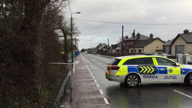 General shots of the scene at Avenue Road Dundalk where police say terrorism could have been a factor in the stabbing of a man on Wednesday January 3...