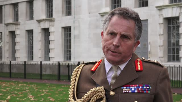 general sir nick carter looks ahead at the future of defence technology in the uk. boris johnson has set out a £16.5 billion increase in defence... - global stock videos & royalty-free footage