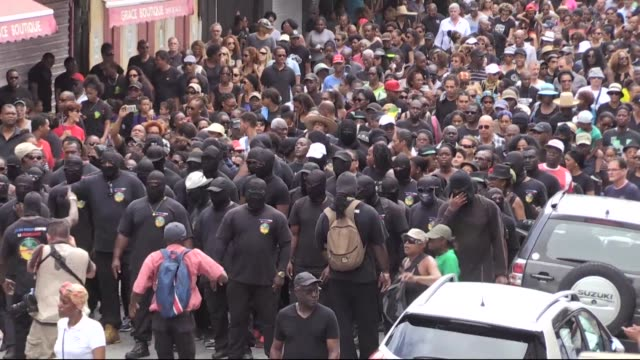 A general strike continued in French Guiana as what local authorities described as the biggest protest march ever organized took place in the capital...
