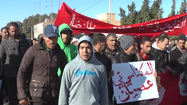 general strike took effect thursday in meknassi about fifty kilometers from sidi bouzid in central tunisia which was the cradle of the 2011 uprising... - rebellion stock videos & royalty-free footage