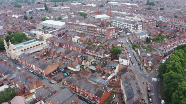 general view across leicester's north evington and spinney hills neighbourhood on july 09, 2020 in leicester, england. businesses in the city had to... - general view stock videos & royalty-free footage