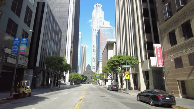 general view approaching the public library in downton los angeles amid the covid-19 pandemic on march 20, 2021 in los angeles, california. - dramatic sky stock videos & royalty-free footage
