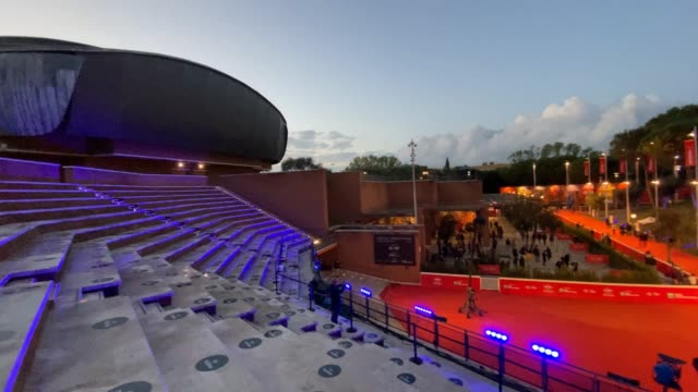 general view during the 15th rome film festival at auditorium parco della musica during the 15th rome film festival on october 24, 2020 in rome,... - rome film festival点の映像素材/bロール