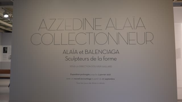 "FRA: ""Alaia And Balenciaga Sculpteurs de la Forme"" Exhibition At Fondation Alaia In Paris"