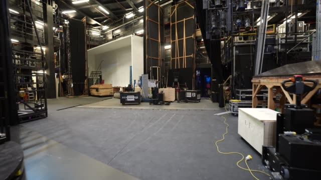 general view for backstage at the london coliseum on june 11, 2020 in london, england. the london coliseum, the largest theatre in london's west end... - ウェストエンド点の映像素材/bロール