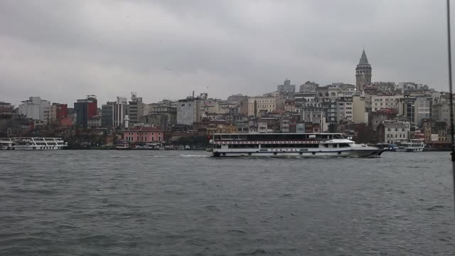general view from the streets of istanbul in turkey istanbul sightseeing on march 16 2013 in istanbul turkey - yeni cami mosque stock videos and b-roll footage