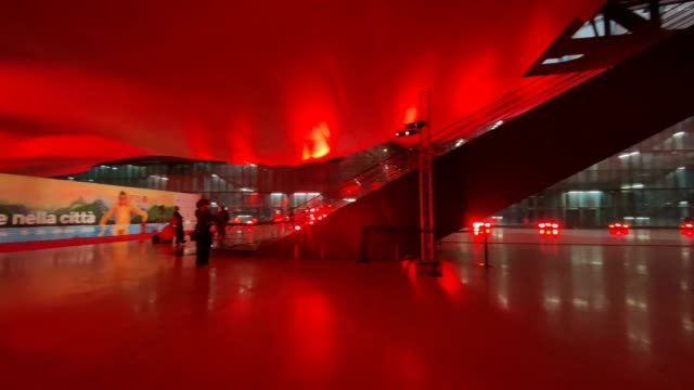 general view inside at the 15th rome film festival at the auditorium parco della musica on october 18, 2020 in rome, italy. - rome film festival stock videos & royalty-free footage