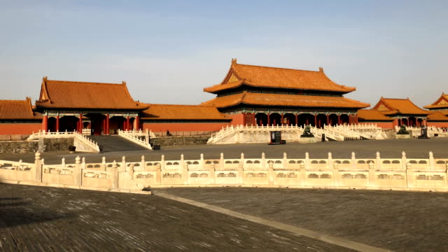 a general view inside the forbidden city on february 01 2018 in beijing china mrs may is being accompanied by a business delegation during her... - minister president stock videos and b-roll footage
