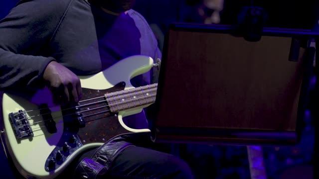 general view live band bass guitar at 'turn up london' at cadogan hall during 'turn up london' at cadogan hall on june 29 2020 in london... - guitar stock videos & royalty-free footage