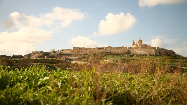 general view mdina in malta - malta stock videos & royalty-free footage