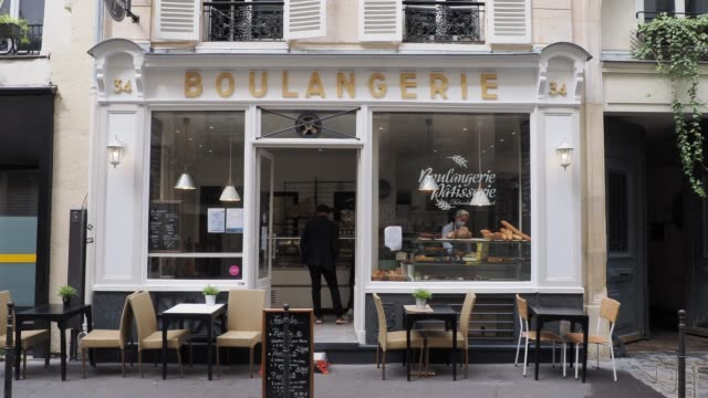 general view of a bakery seen on june 11 2020 in paris france - french bakery stock videos & royalty-free footage