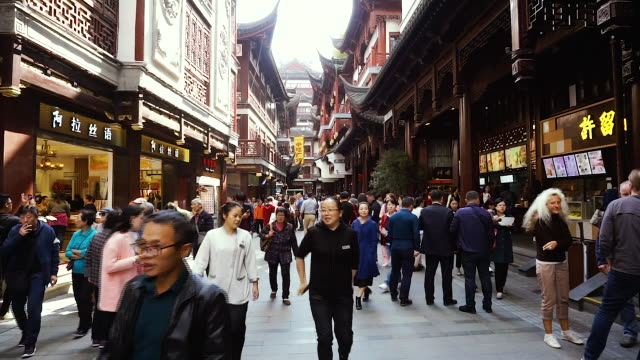 a general view of a market in shanghai - shanghai stock videos & royalty-free footage