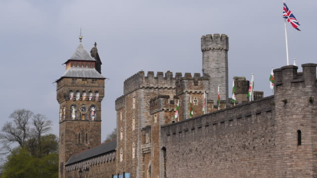 A general view of Cardiff Castle in Cardiff city centre in Cardiff Wales UK Cardiff Castle is a medieval castle and Victorian Gothic revival mansion...