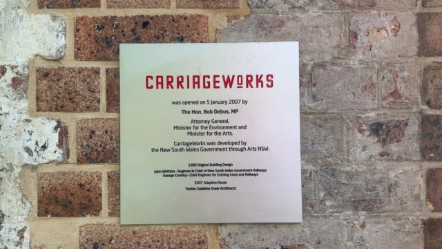 general view of carriageworks on may 05, 2020 in sydney, australia. carriageworks, one of the largest multi arts centres in australia, announced on... - carriageworks stock videos & royalty-free footage