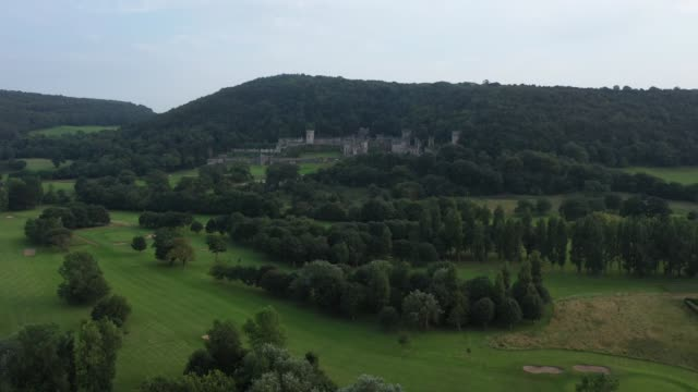 "general view of castell gwyrch on august 14, 2020 in abergele, wales. gwyrch castle rumoured to be the set of this year's itv reality tv show ""i'm a... - spooky stock videos & royalty-free footage"