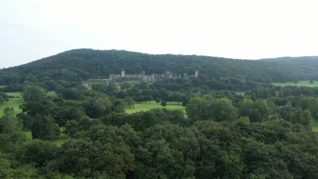 a general view of castell gwyrch on august 14 2020 in abergele wales gwyrch castle rumoured to be the set of this year's itv reality tv show i'm a... - old ruin stock videos & royalty-free footage