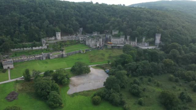 """general view of castell gwyrch on august 14, 2020 in abergele, wales. gwyrch castle rumoured to be the set of this year's itv reality tv show """"i'm a... - castle stock videos & royalty-free footage"""