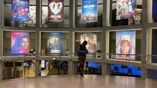 general view of cinema ugc cite les halles on october 21, 2020 in paris, france. cinemas are facing difficulties due to the paris curfew between 9... - film industry stock videos & royalty-free footage