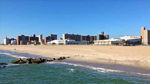 General view of Coney Island beach in New York