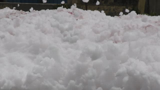general view of dirty foam at a water treatment plant on april 23 in dhaka, bangladesh. - full frame stock videos & royalty-free footage
