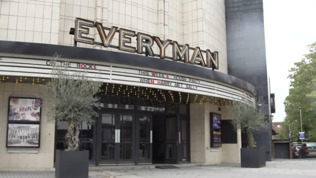 general view of everyman cinema on october 06, 2020 in london, england. the movie theatre chain cineworld confirmed closure of 127 cinemas in the... - film industry stock videos & royalty-free footage