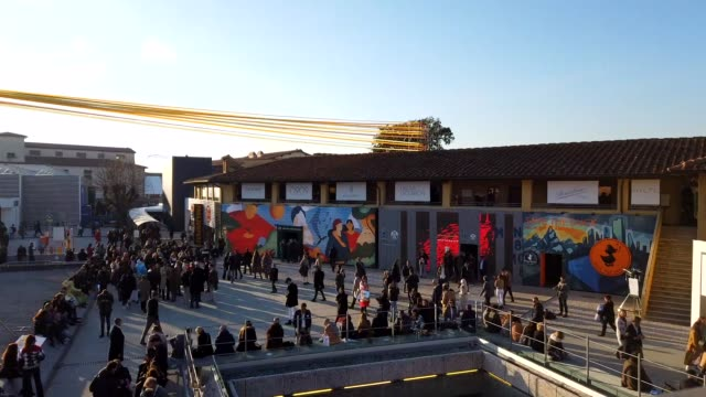 general view of guests at fortezza da basso on january 7 2020 in florence italy - florence italy stock videos & royalty-free footage