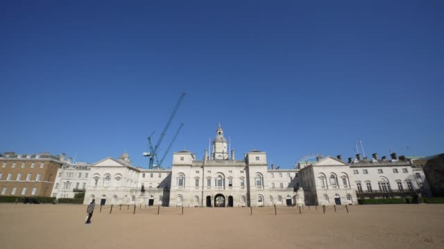 general view of horse guards parade on day 2 of 'stay at home' during the coronavirus pandemic british prime minister boris johnson announced strict... - travel destinations stock videos & royalty-free footage