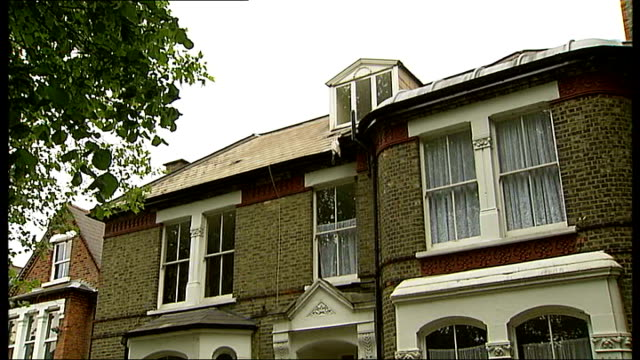 general view of house where boxall died showing only one bay window boarded up - bay window stock videos & royalty-free footage