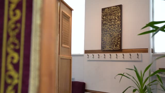 general view of inside shacklewell lane mosque as religious leaders prepare to record prays for the night of power on may 16, 2020 in london,... - praying stock videos & royalty-free footage