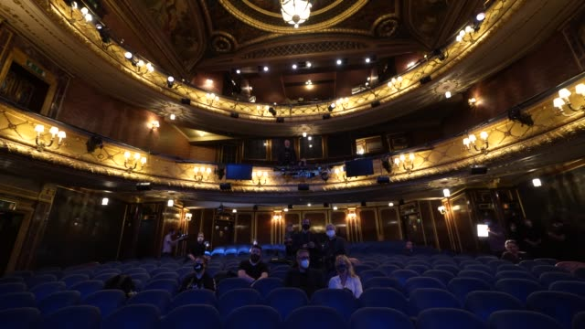 general view of inside the theatre royal haymarket on september 3, 2020 in london, england. - theatre royal haymarket stock videos & royalty-free footage