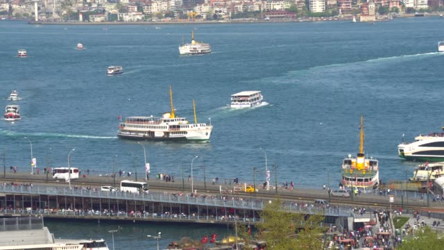 general view of istanbul city. - passenger craft stock videos & royalty-free footage