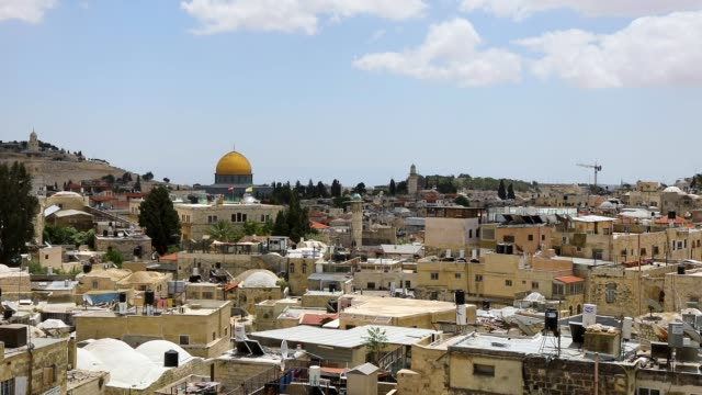 general view of jerusalem on may 8 2018 in jerusalem israel in a controversial move the united states is set to move its embassy in israel from tel... - jerusalem stock videos & royalty-free footage